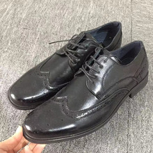 2019 New Fashion Dress Shoes Men Brogue Oxfords Man Size 43 Black On Sale kucun8