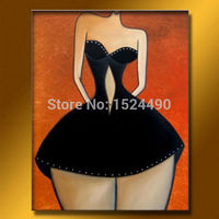 Hot Sell 100% Handpainted Modern Abstract Decor Oil Painting On Canvas Wall Art Nude China Girls Figures Pictures