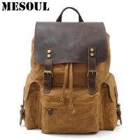 High Quality Waterproof Backpack Men Canvas Travel Shoulder Rucksack Vintage Large Capacity Youth Boy Laptop Backpack