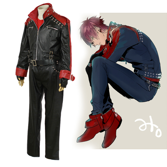 DMMD Dramatical Murder mizuki Cosplay Costume for men Leather jacket anime  clothes carnival Costume Custom with