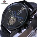 Mens Watches Top Brand Luxury Forsining Men Sport Tourbillon Automatic Mechanical Genuine Leather Wristwatch relogio masculino
