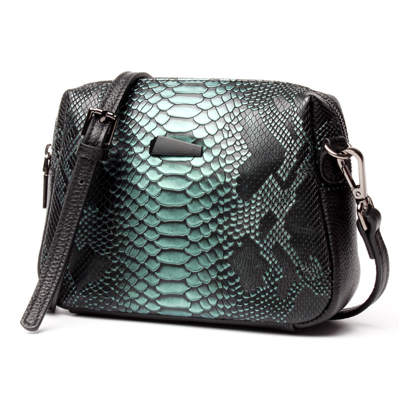 2017 New Women Messenger Bags Genuine Leather Serpentine Shoulder Bags Brand Female Small Square Bag Fashion Clutch Handbags