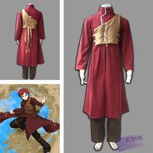 Взрослый Хеллоуин костюм для мужчин наруто Sabaku нет Гаара косплей костюм аниме одежда Карнавальный костюм для мальчиков На Заказ