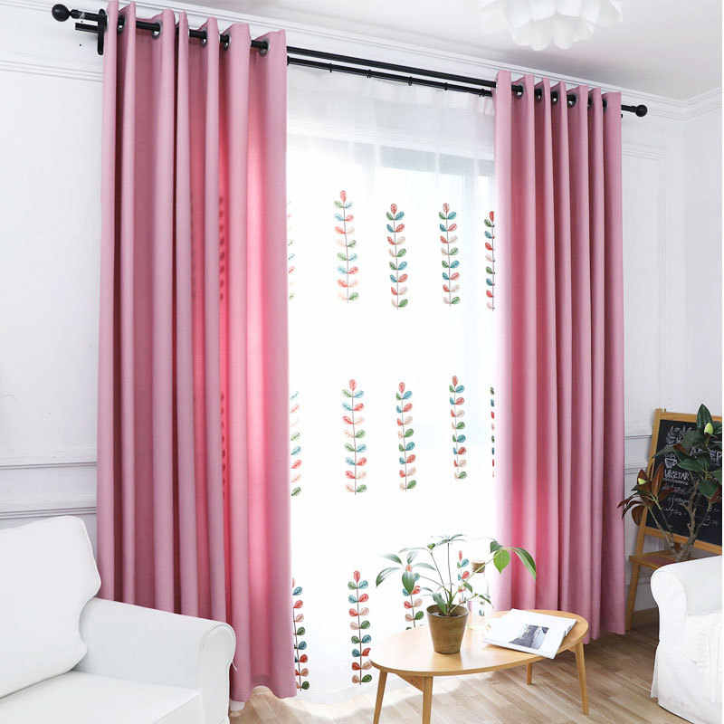 simple linen blackout curtain sheer pink curtains for window curtain living room purple sheer curtains modern curtains 198&30