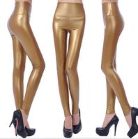Spring And Autumn High Waist PU Large Size Was Thin Women Tight Feet Pants