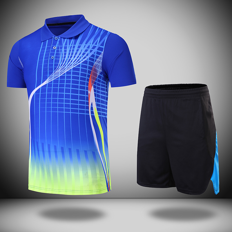 Free Print table tennis clothes Women/Men , Badminton sets , table tennis sets , badminton shirt + shorts 210 kids pineapple print tee with rolled hem shorts