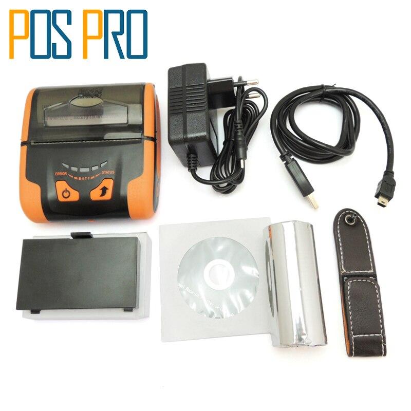 IMP013 USB+Bluetooth+Wifi Port Support Arabia Thai Printing Multifunctional 80mm Pos Bluetooth Mobile Mini Thermal Printer