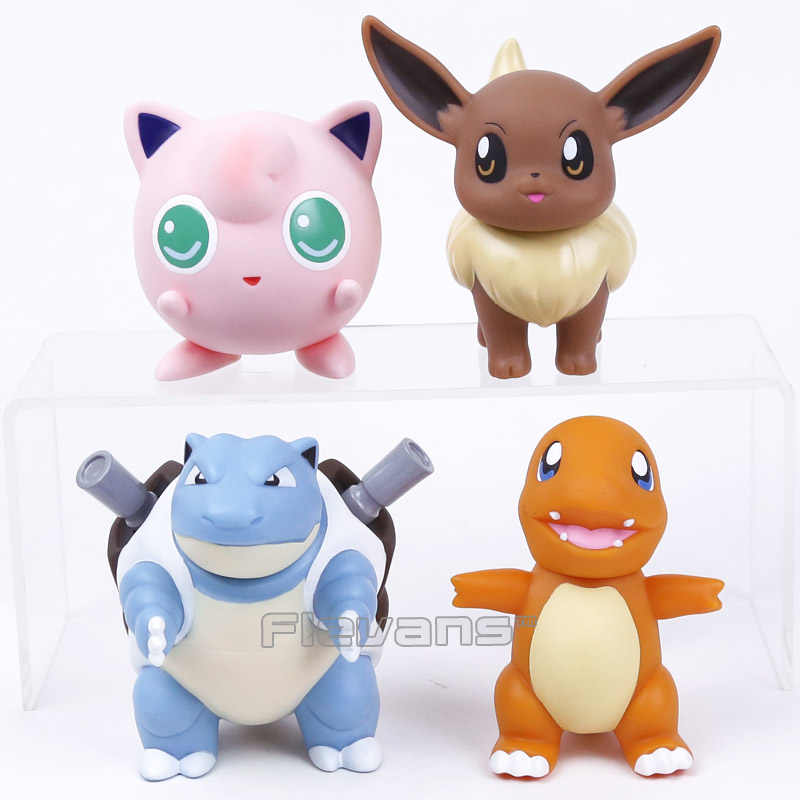 Eevee Charmander Blastoise Jigglypuff PVC Action Figure Collectible Modelo Toy 8 ~ 11 cm