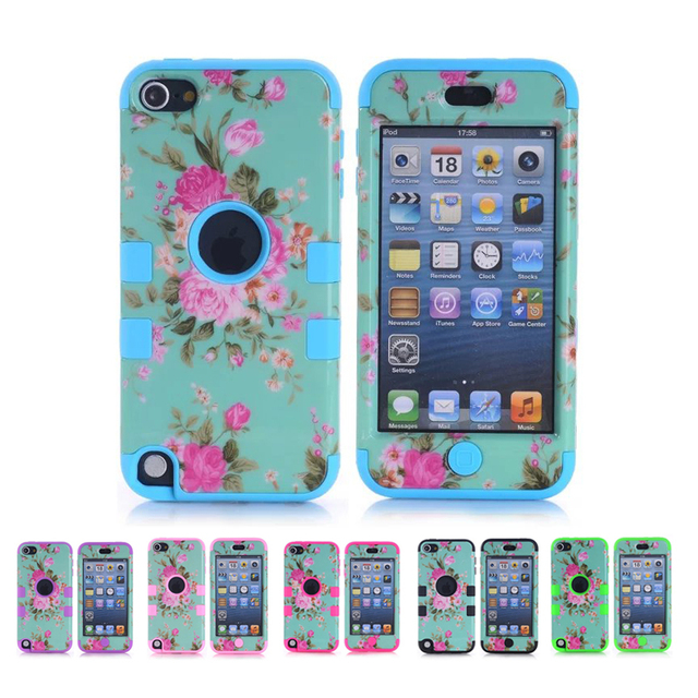 low priced 75656 1ca66 US $6.79  Aliexpress.com : Buy Flower Silicone Case for Apple iPod Touch 5  6 5th 6th Gen Cases for Girls Hybrid Armor Defender Shockproof Protective  ...