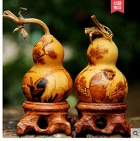 Natural hand twirling play with hot stamping engraving small calabash set in 12 zodiac handicrafts boutique pig Small dog