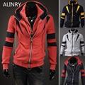 2017 New hot sale autumn winter jacket 4 colors fashion cozy warm hoodies men Double zipper turn-down was thin sportsmen wear