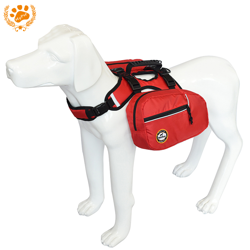 Black doggy 2 in1 Outdoor Pets Harness Reflective Dog Backpack Accessories for Pet For Small Or Large Dog Carry Products BP12003