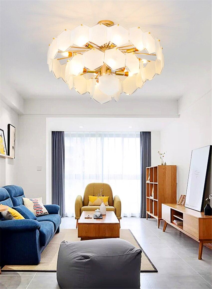 Us 600 0 30 Off Modern Luxury Living Room Decor Gl Sheet Re Chandelier Led Pendant Lamp Lighting Dining Luminaria Light Fixtures In