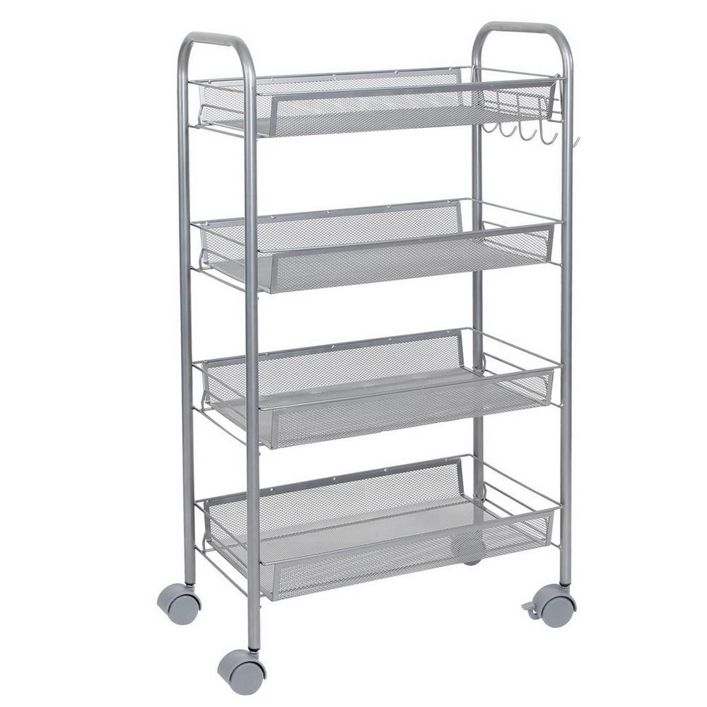 Rolling Kitchen Pantry Shelves: 4 Tier Shelving Rack Shelf Shelves Rolling Kitchen Pantry