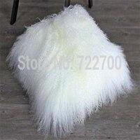 White Mongolian Lamb Fur Pillow Cover Real Tibetan Fur Cushion Cover Pillowcase For Sofa Decorative Throw Pillows Chair Cover