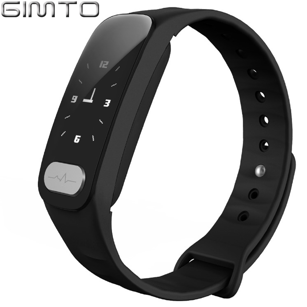 GIMTO 2018 Bluetooth Sport Bracelet Smart Watch Men Women Wristband Blood Pressure ECG Date Heart Rate Monitor for IOS Android cute love heart hollow out bracelet watch for women