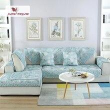 Slowdream Sofa Cover Back Seat Single Double Three Position Nordic Jacquard Living Room Decor Corners 3/9PCS Set