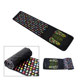 Medialbranch Colorful Plastic Foot Massager Pad Acupuncture Cobblestone Yoga Mat 175*35cm Foot Care Tool