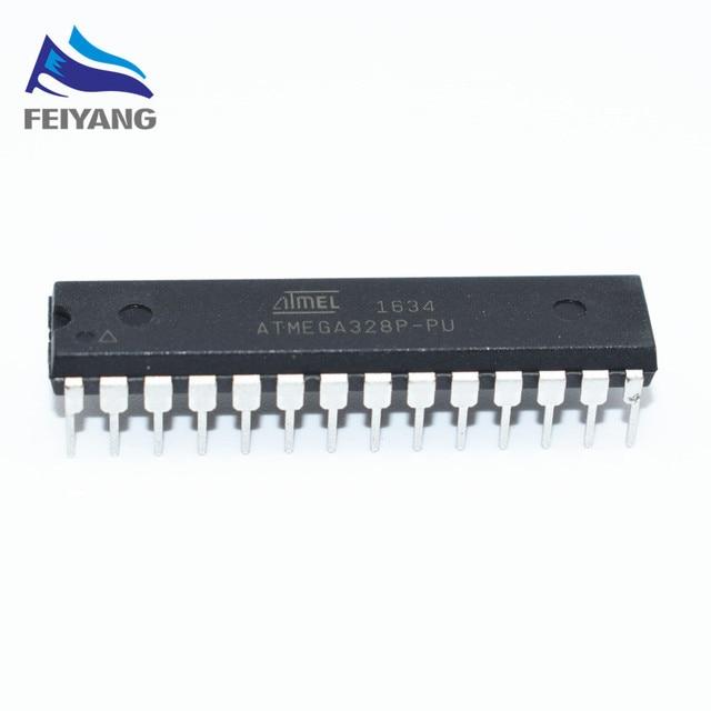 1 pçs/lote ATMEGA328P-PU CHIP ATMEGA328 Microcontrolador AVR MCU 32 K 20 MHz FLASH DIP-28