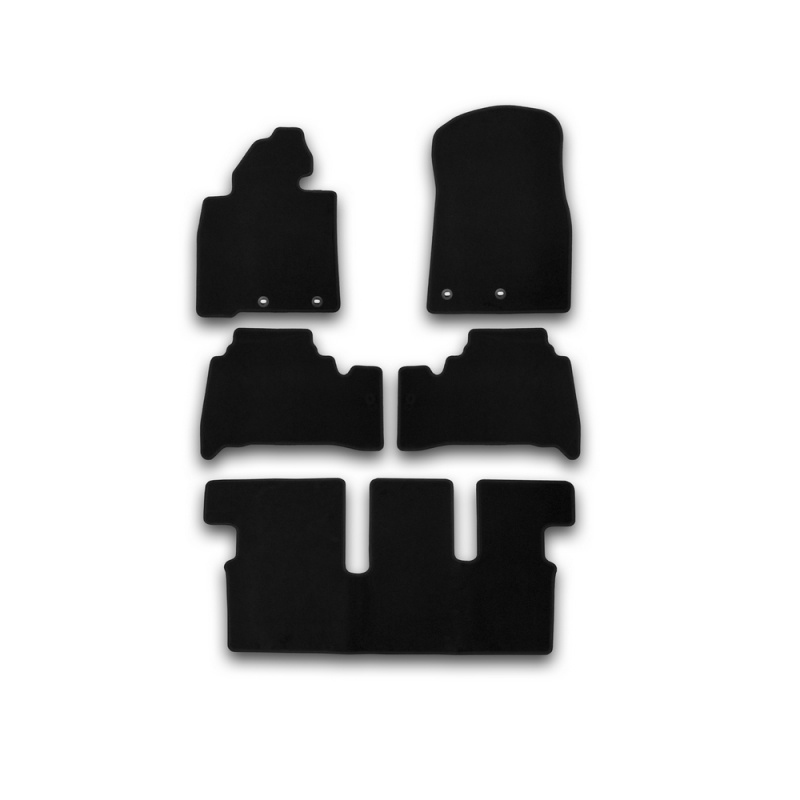 Mats in salon Klever Econom For TOYOTA Land Cruiser 200, 7 seats, AUTOMATIC TRANSMISSION, 2012-> внед... 5 PCs (textile) mats in the salon for peugeot 4008 automatic transmission 2012 внед 5 pcs textile
