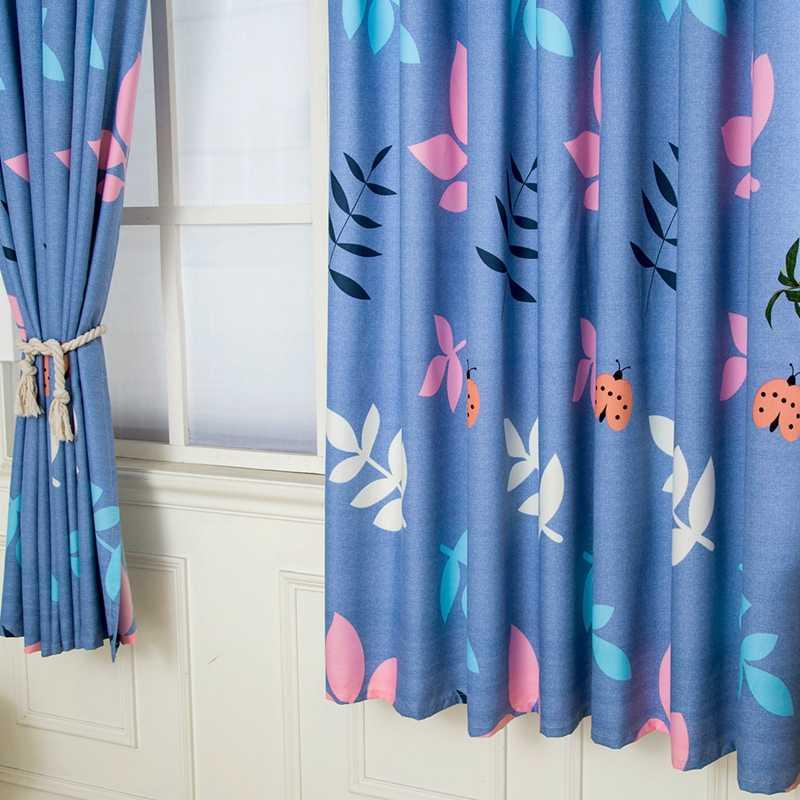 Простые полузатемненные шторы в скандинавском стиле для мальчиков и девочек, спальни, гостиной, синие ночные шторы, на заказ, драпировка для спальни