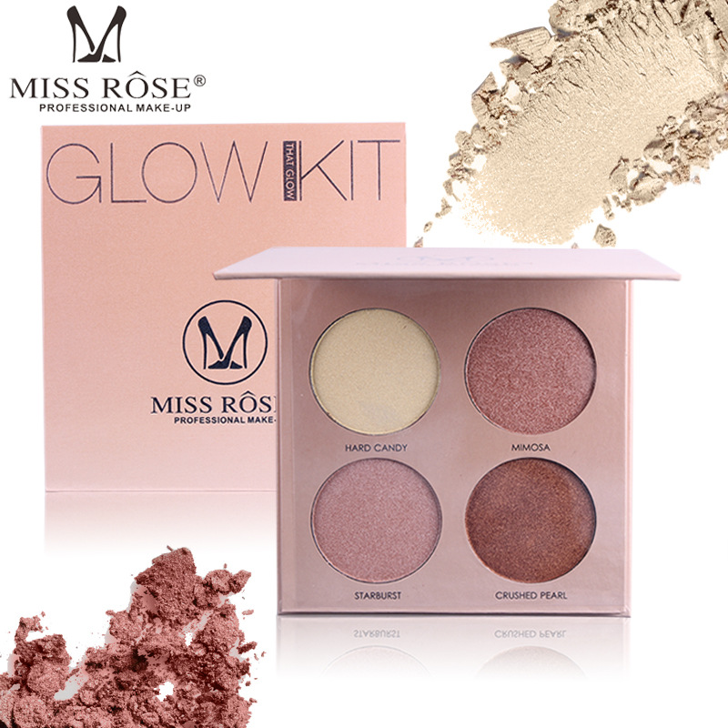 все цены на New Arrival Miss Rose Makeup Palette Brighten Bronzer and Highlighter Shimmer 4 Color Matte Contour Glow Kit 3D Face Powder