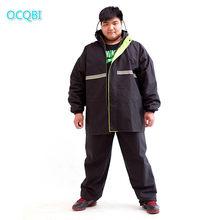 Chubasquero de talla grande para hombre, chaqueta impermeable, traje para montar, Poncho de lluvia para adulto, capa única de doble capa