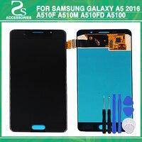 Оригинальный A510 ЖК дисплей для Samsung Galaxy A5 2016 A510 A510F ЖК дисплей Дисплей Сенсорный экран планшета Стекло сборки Замена с инструментом