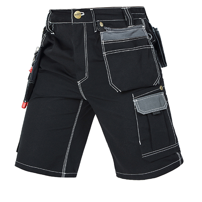 New 2020 High quality men's summer work short workwear multi pockets short work pant work short trousers free shipping