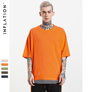 New Style Unisex Casual Solid Elbow Length Fashion T-Shirt 1