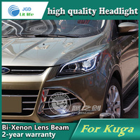 Car Styling Head Lamp case for Ford Kuga 2013 Headlights LED Headlight DRL Lens Double Beam Bi Xenon HID car Accessories
