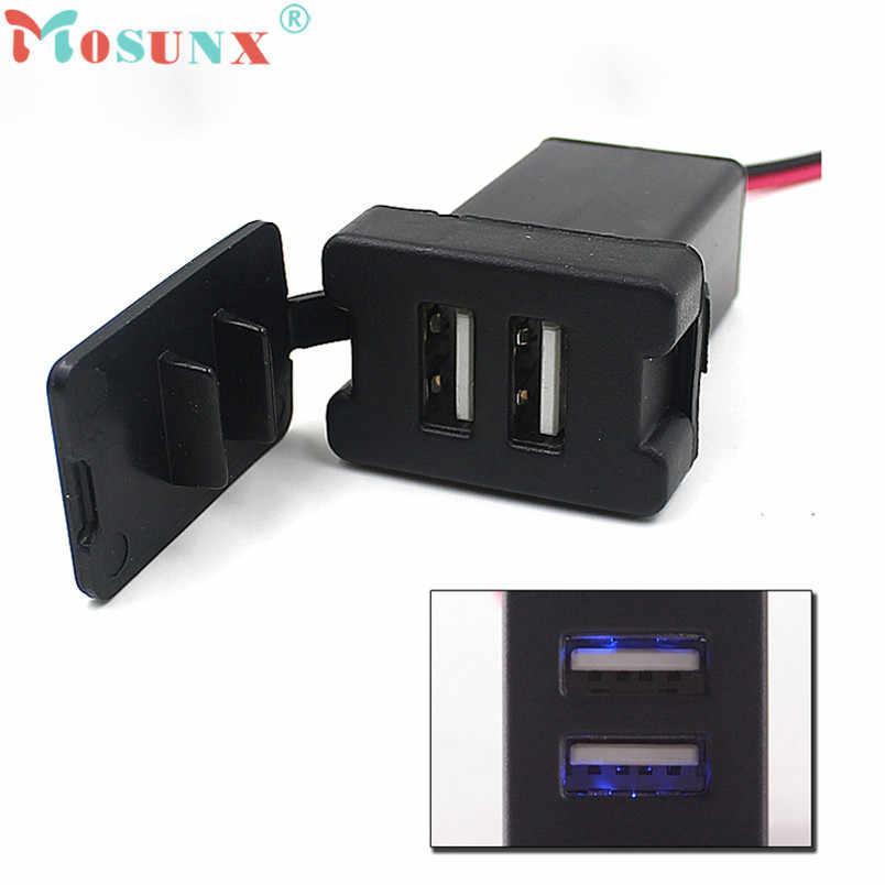 Надежный автомобильный Зарядное устройство автомобиля 12V 24V до 5V 3.1A двойной Порты usb крепление на приборную панель Зарядное устройство для TOYOTA