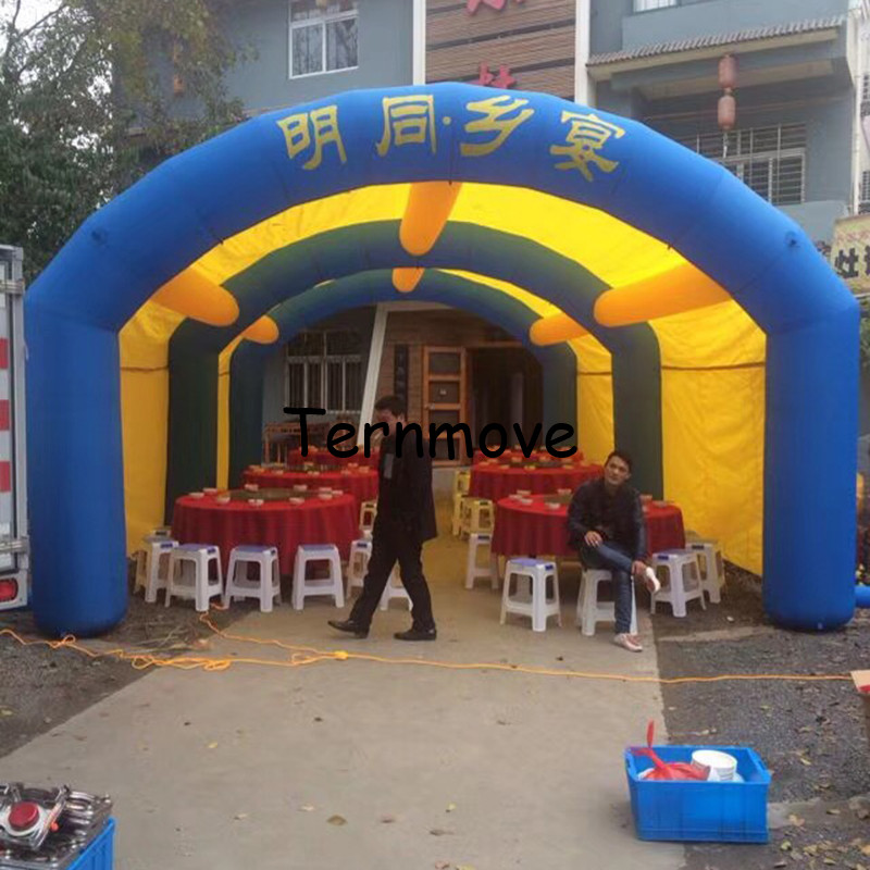 inflatable tent tunnel / arch shape inflatable tunnel - toy tent Party Tent Large Arch tent For Ourdoor Event black inflatable tunnel 4 4 3m tunnel tent stage tent for children giant inflatable stage cover for sale toys tents