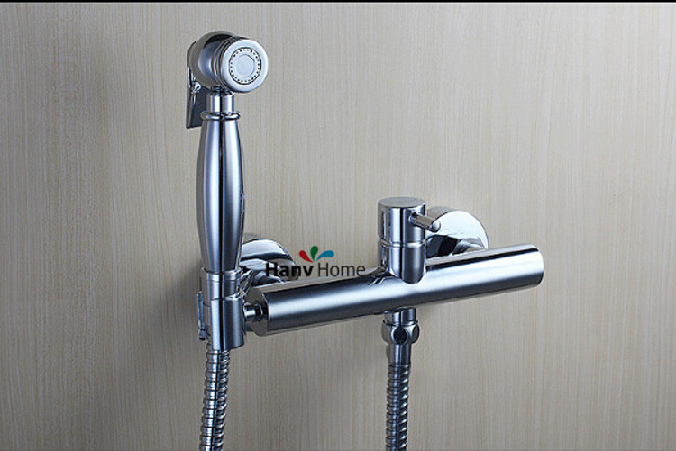Br Toilet Hand Held Bidet Spray Shattaf Hot Cold Water Valve Mixer With Holder Hose Sprayer Jet Tap Kit In Bidets From Home
