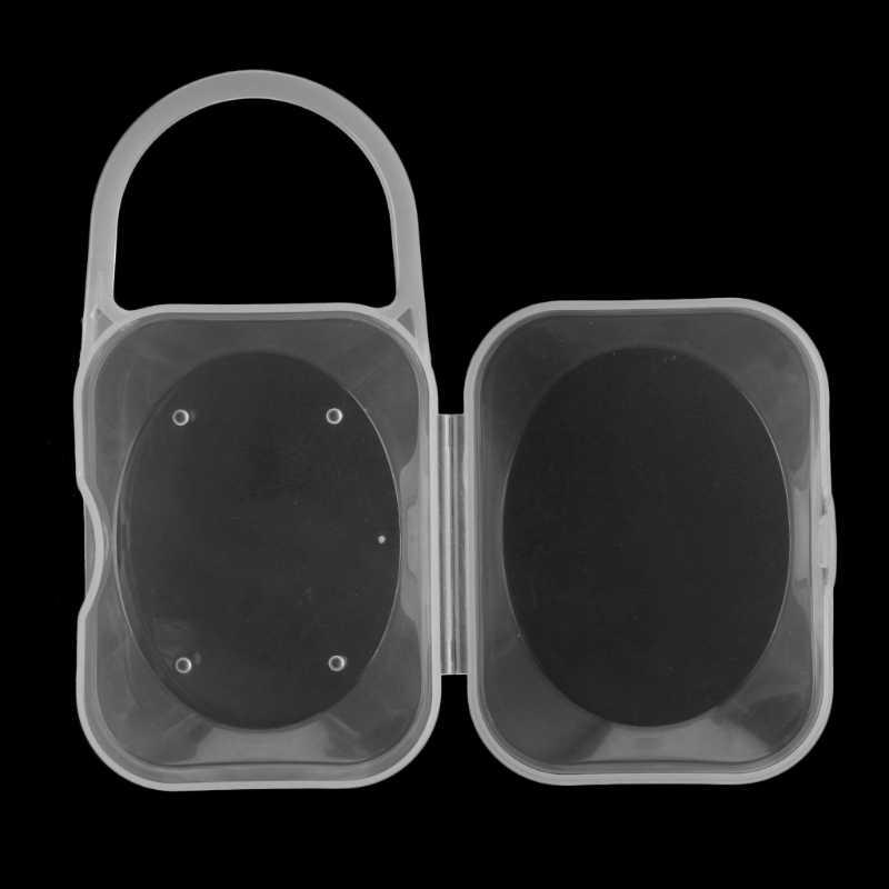 Portable bebé chico biberón chupete pezón estuche protector caja de almacenamiento