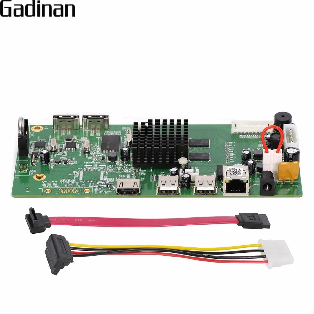 GADINAN 8CH HI3798M CCTV H.265 NVR Conseil 4 K/5MP/4MP NVR de Sécurité Module 4CH 5MP/8CH 4MP XMEYE P2P Détection de Mouvement