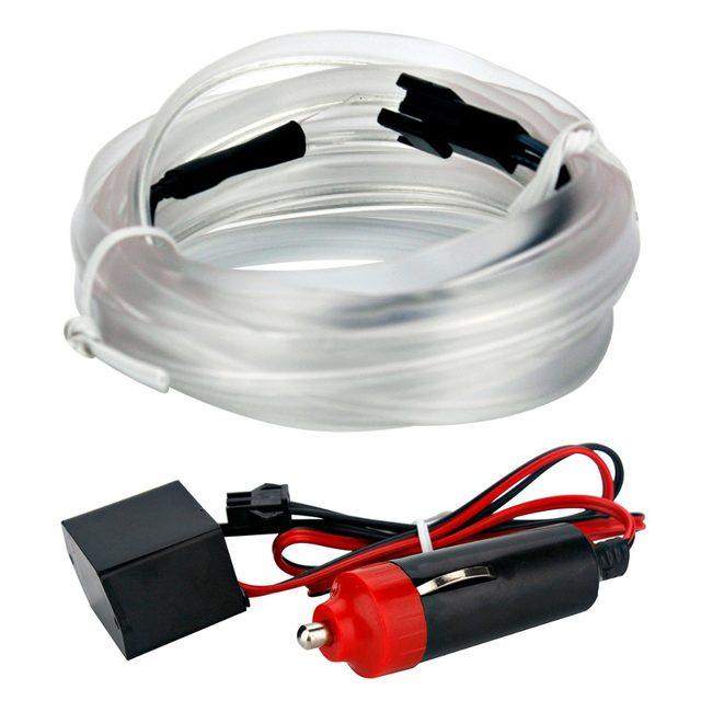 Online Shop 2M Stickers White Neon Light Neon Wire Flexible EL Wire ...