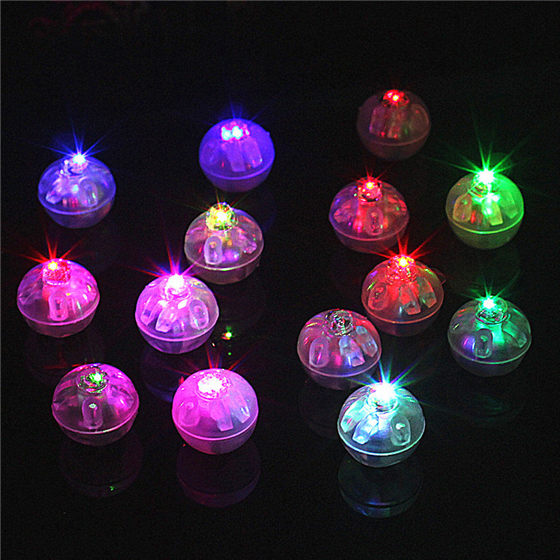 12 parts/led balloon go round ball tumbler led balloon lights flash luminous lamps lantern bar christmas wedding decoration