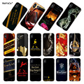 MaiYaCa Classic red wine cup Johnnie Walker Blue Label Transparent Soft Phone Cover For iPhone X XS MAX XR 8 8PLUS 5s 6s 7 case
