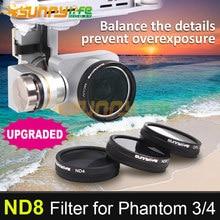 Sunnylife DJI Phantom 3/4 Accessory ND8 Dimmer ND-8 Light Microscopy Lens Filter for Phantom 4/3 ProfessionalAdvancedStandard