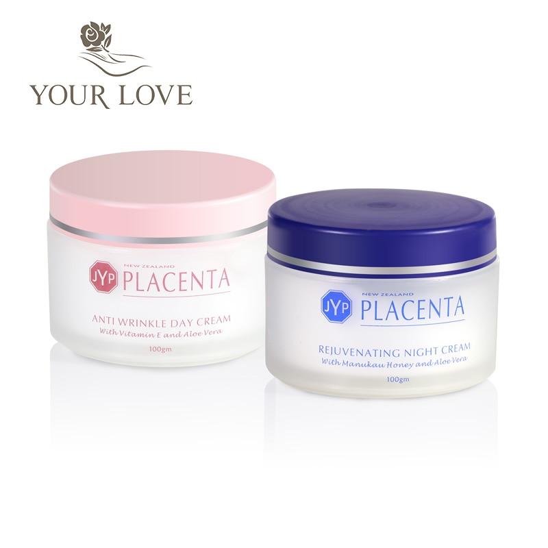 100% NewZealand Sheep Placenta Anti Wrinkle Day Cream+Night Face Cream Sets Reduce Face wrinkles Manuka Honey Rejuvenation Cream 5