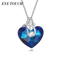 EYE TOUCH Fashion Jewelry Vintage Crystals From Swarovski Australian Rhinestone Blue Color Heart Shaped Valentine S