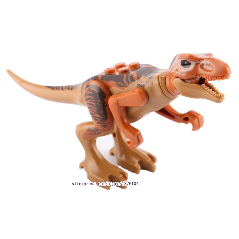8pcs / lot legingINGly Jurassic World Dinosaurs Torpaq blokları - Uşaq konstruktorları - Fotoqrafiya 4