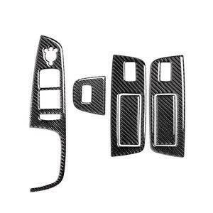 Image 5 - TPIC Auto Innen Dekoration Carbon Faser Auto Fenster Switch Control Panel Auto Aufkleber Auto Styling Für Audi Q7 2008 2015