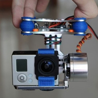 Practical 2 Axis Adjustable Easy Use Brushless Gimbal Controller Aerial Photography Anti Vibration Direct Fit Board For Gopro3