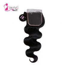 Peruvian Body Wave Closure 4×4 Remy Human Hair Lace Closure Free Part Ms Cat Hair Products Peruvian Hair Closure