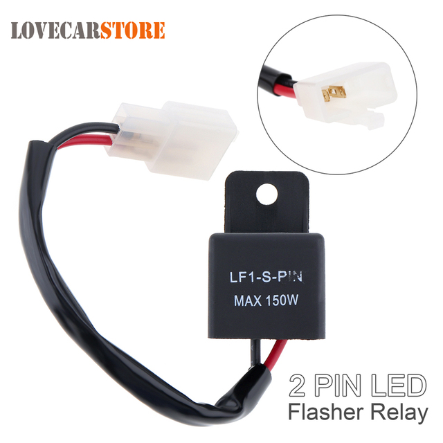 Waterproof 2 Pin Electronic Led Flasher Relay Fix Turn