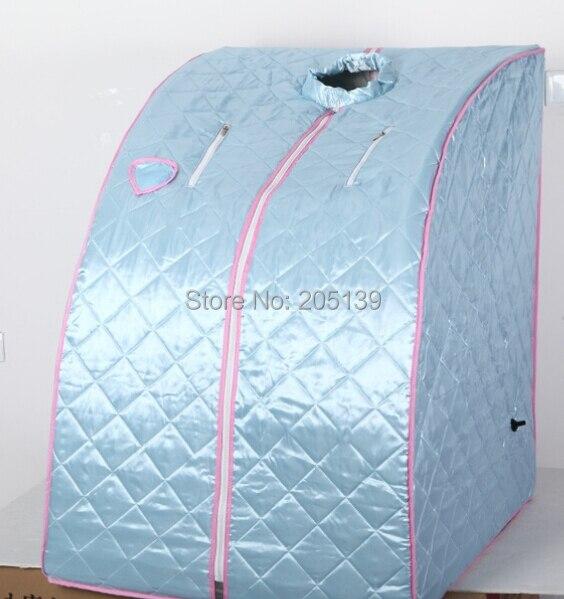 Tenda sauna portatile blu mini portatile box sauna camera + ...