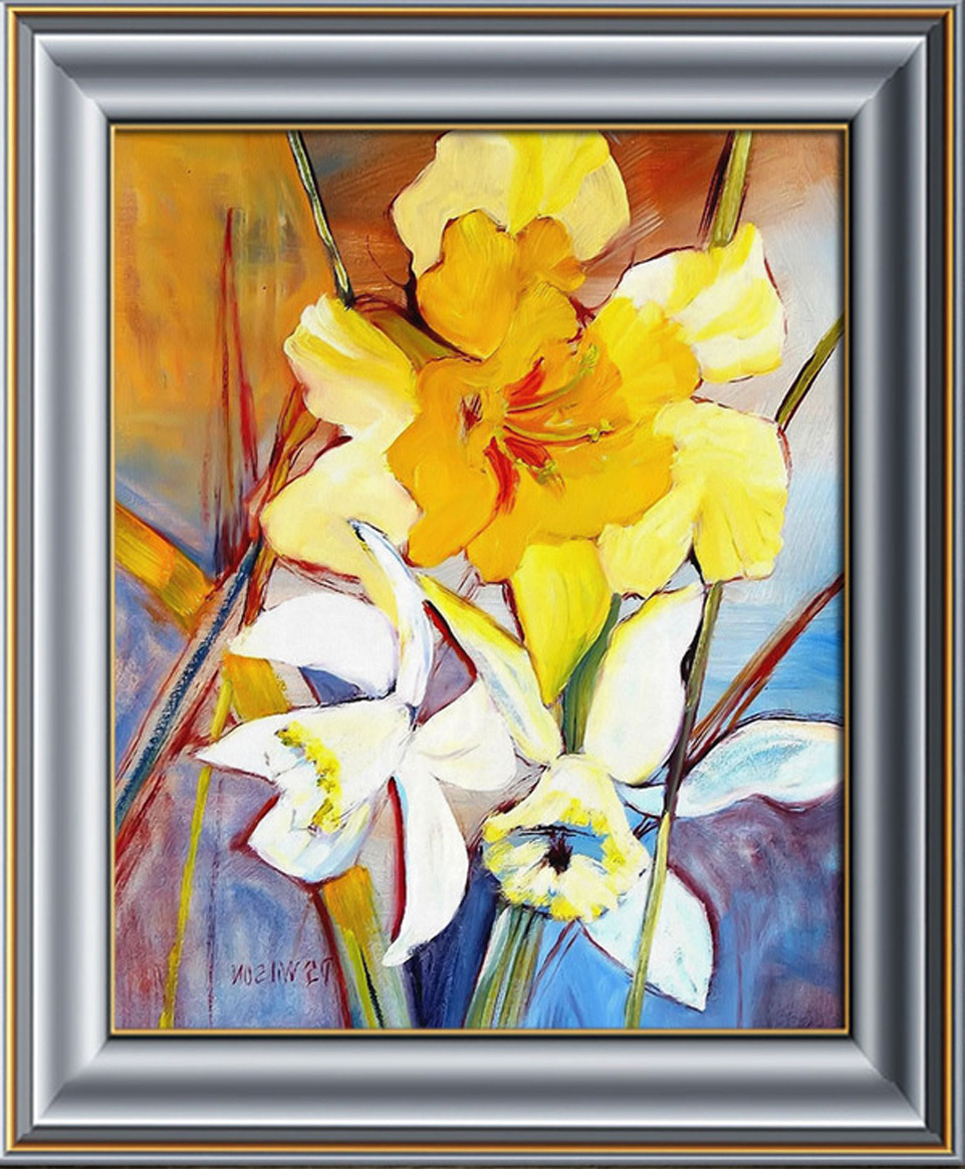 Professional Artist Handmade Decorative Painting Flowers Home Apartments Abstract Vertical Paintings Quadros Decorativos China