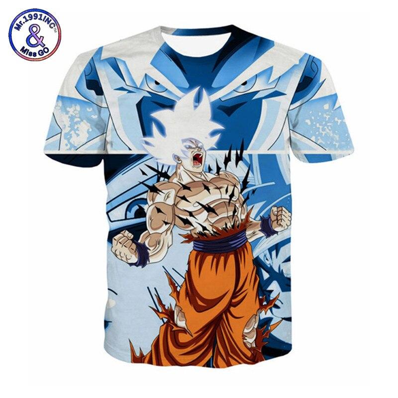 Dragon Ball T Shirt hombres 3D Anime Fans niños Goku Gohan Camiseta súper  Vegito Saiya impreso Camiseta Dragon las camisetas de la bola Z ba8ba98ca344